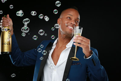 Fun Bubbly Head Shot Photo Shoot at Champagne Creative Group in Las Vegas