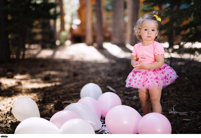 Tahoe Family Photographer First Birthday Photo Session