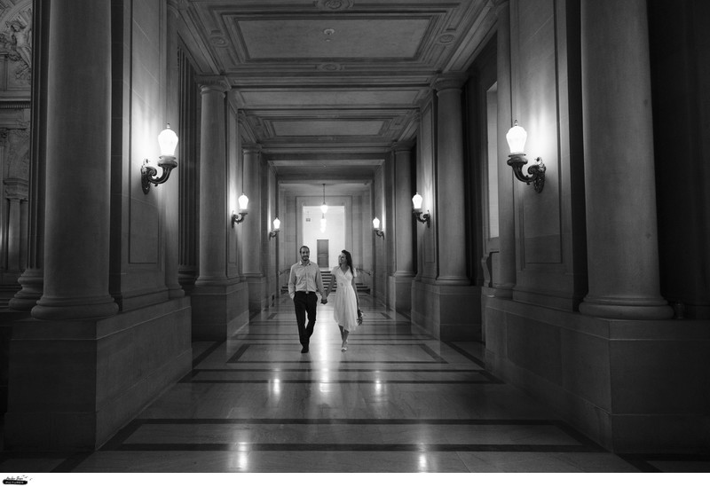 San Francisco City Hall Modern Elopement Photography