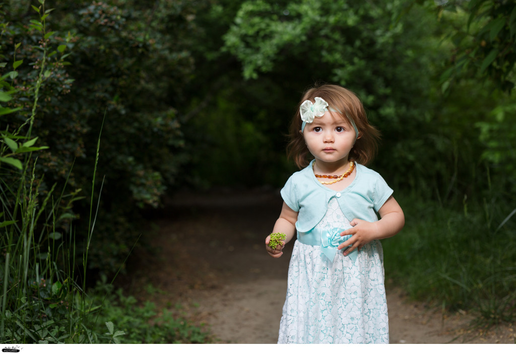 toddler photo session at Rancho San Rafael park Reno