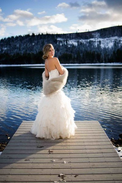 Winter Wedding, Donner Lake, Tahoe Wedding Photographer