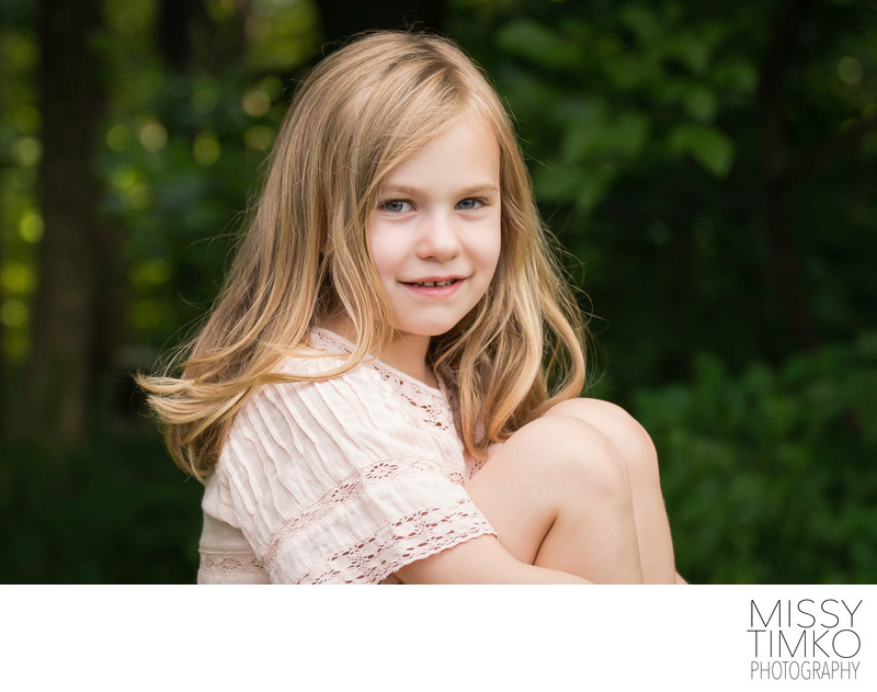 Portrait of Young Girl, Missy Timko Family Photographer
