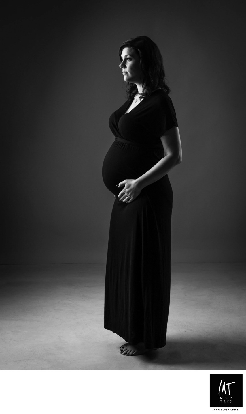 Dramatic Studio Maternity Portrait Pittsburgh