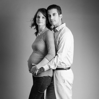 Couples Portrait for Maternity Studio Session Pittsburgh