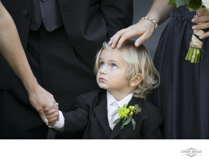 Adorable Ring Bearer Candid Portrait