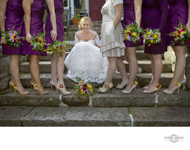 Shoe Clips and Bouquets Fun Wedding Photographer