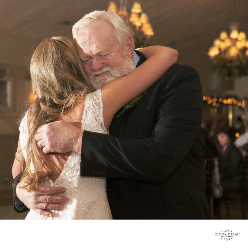 Emotional Dad During Dance with the Bride Photo in New Hope