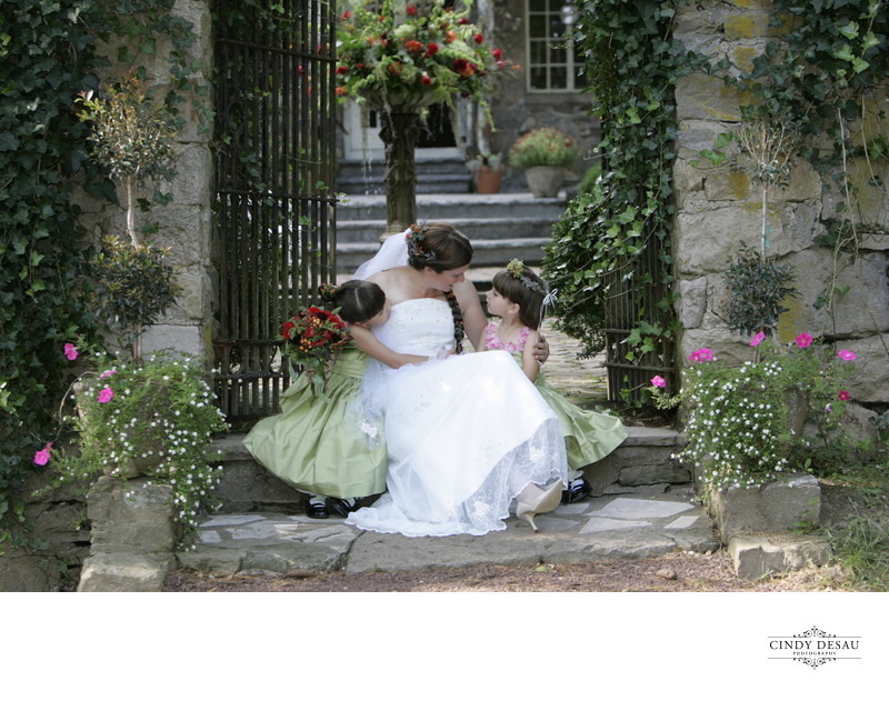 Boho Summer Bride with Flower Girls in New Hope