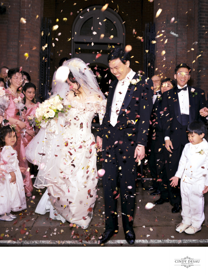 Rose Petal Confetti at Philadelphia Chinese Wedding