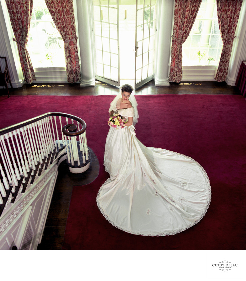 Bride at Prospect House on Princeton University Wedding