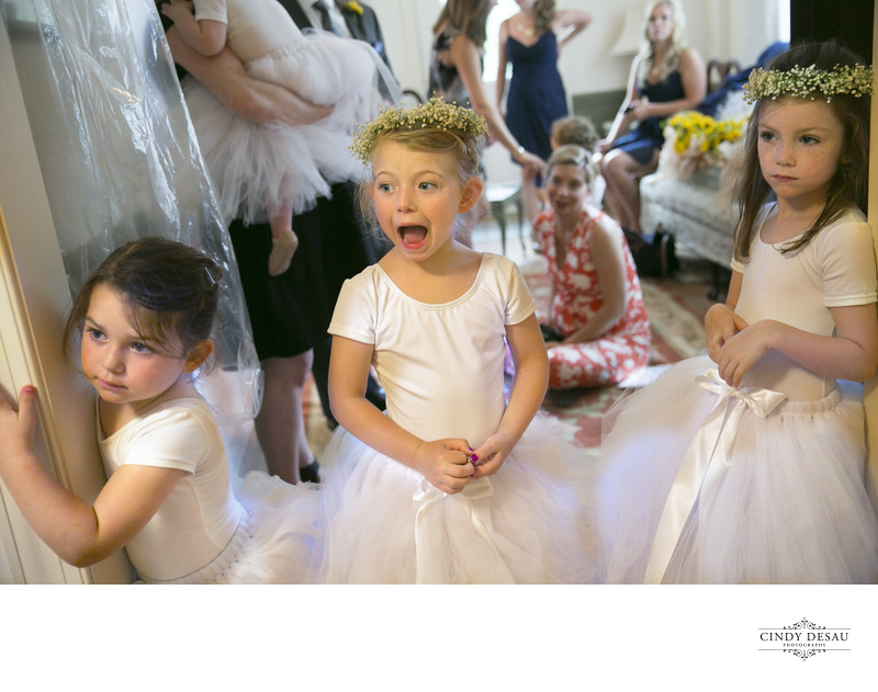 Expressive Flower Girls React to Seeing the Bride