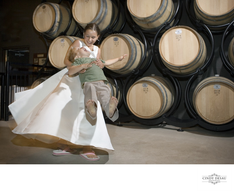 Crossing Vineyards Barrel Room Wedding Photograph
