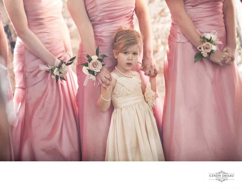 Pretty in Pink Flower Girl Ceremony Photo
