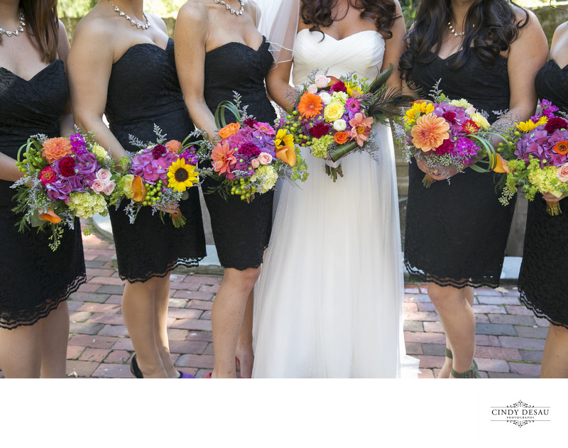 Bright Bridal Bouquets New Hope Wedding Photographer