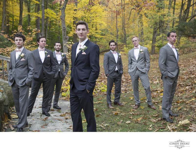 Album Cover Photo of Groom and Groomsmen in New Hope