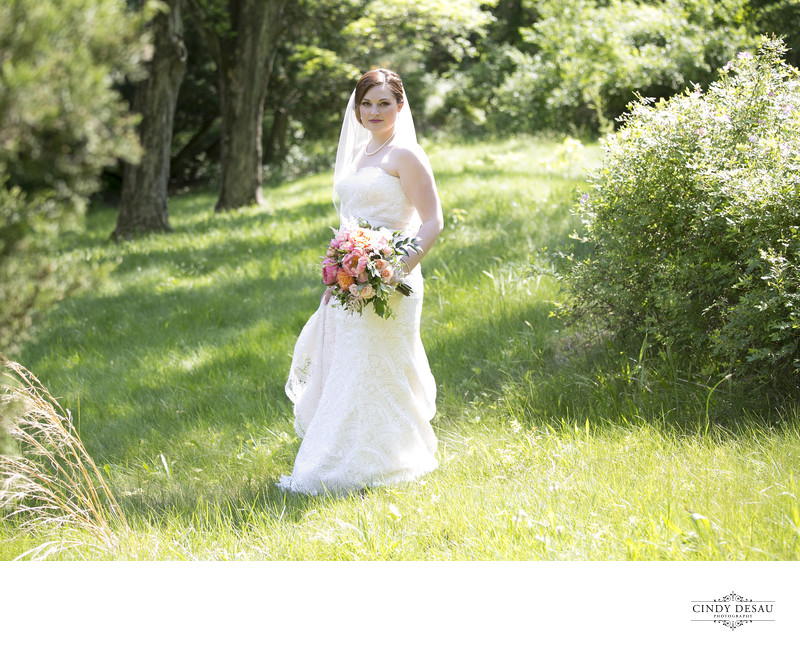 Natural Light Candid Bridal Photographs in Bucks County