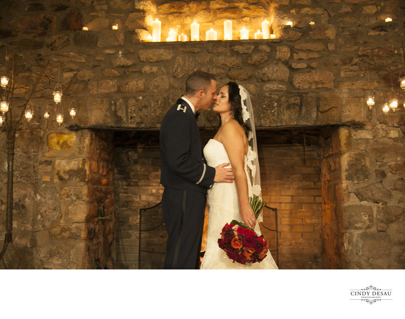 Candlelight Ceremony Kiss Wedding Photo