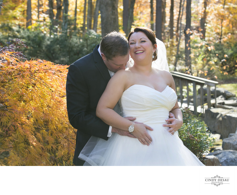 Fall Wedding Moment in Bucks County