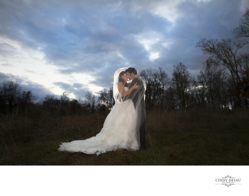 Sunset in the Field: New Hope Wedding Photographer