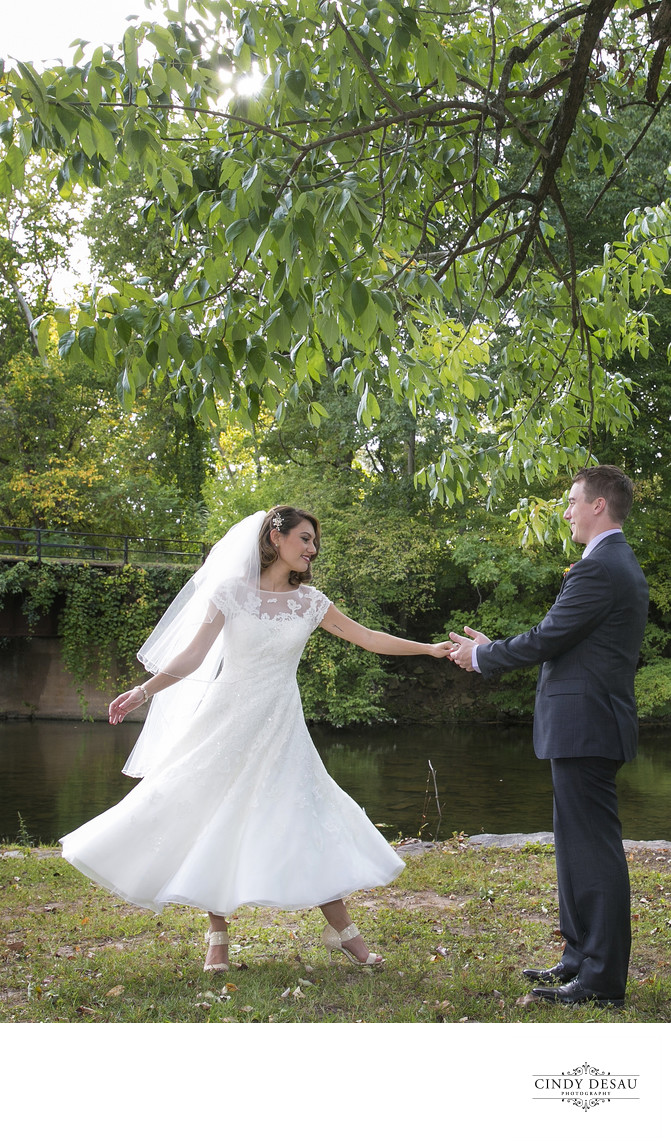 Prallsville Mills Dance Along the Canal Wedding Photographer