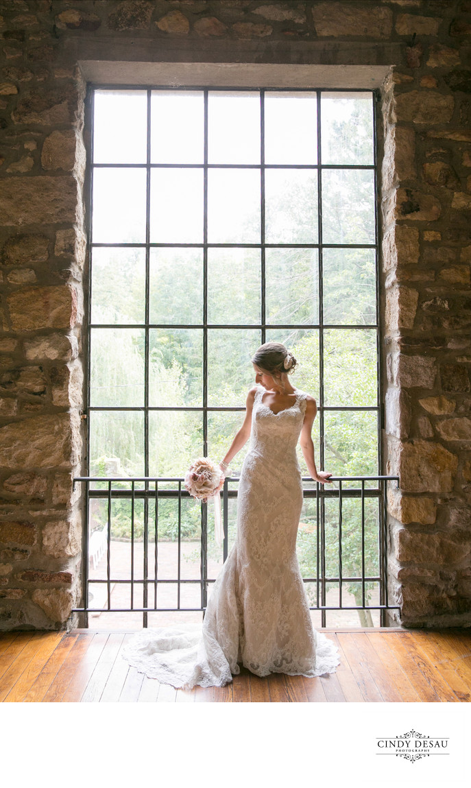 Amazing Barn Window Wedding Photo in New Hope