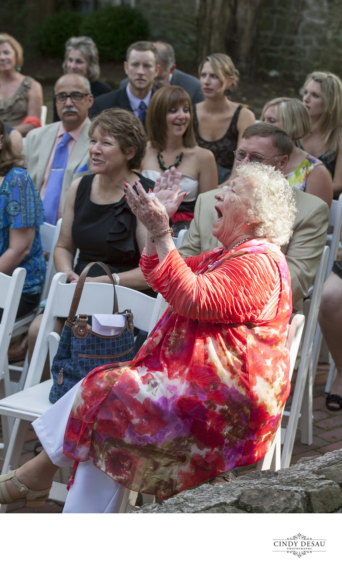 Grandmom Applauds Wedding in New Hope Photos