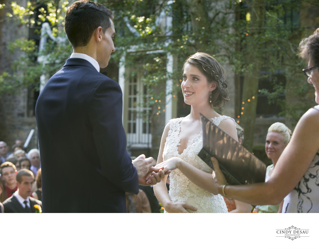 Courtyard Ceremony at Holly Hedge Estate