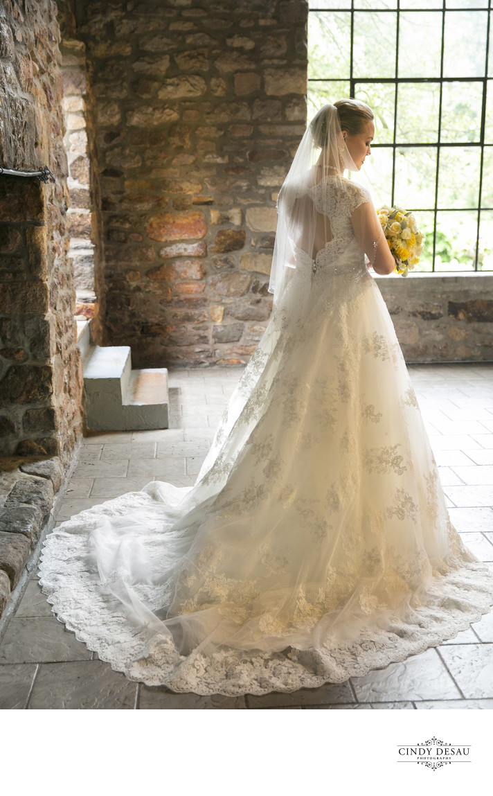 Full Length Bridal Portraits at Holly Hedge