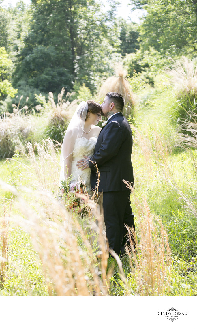 Bridal Portrait in Field of Tall Grasses