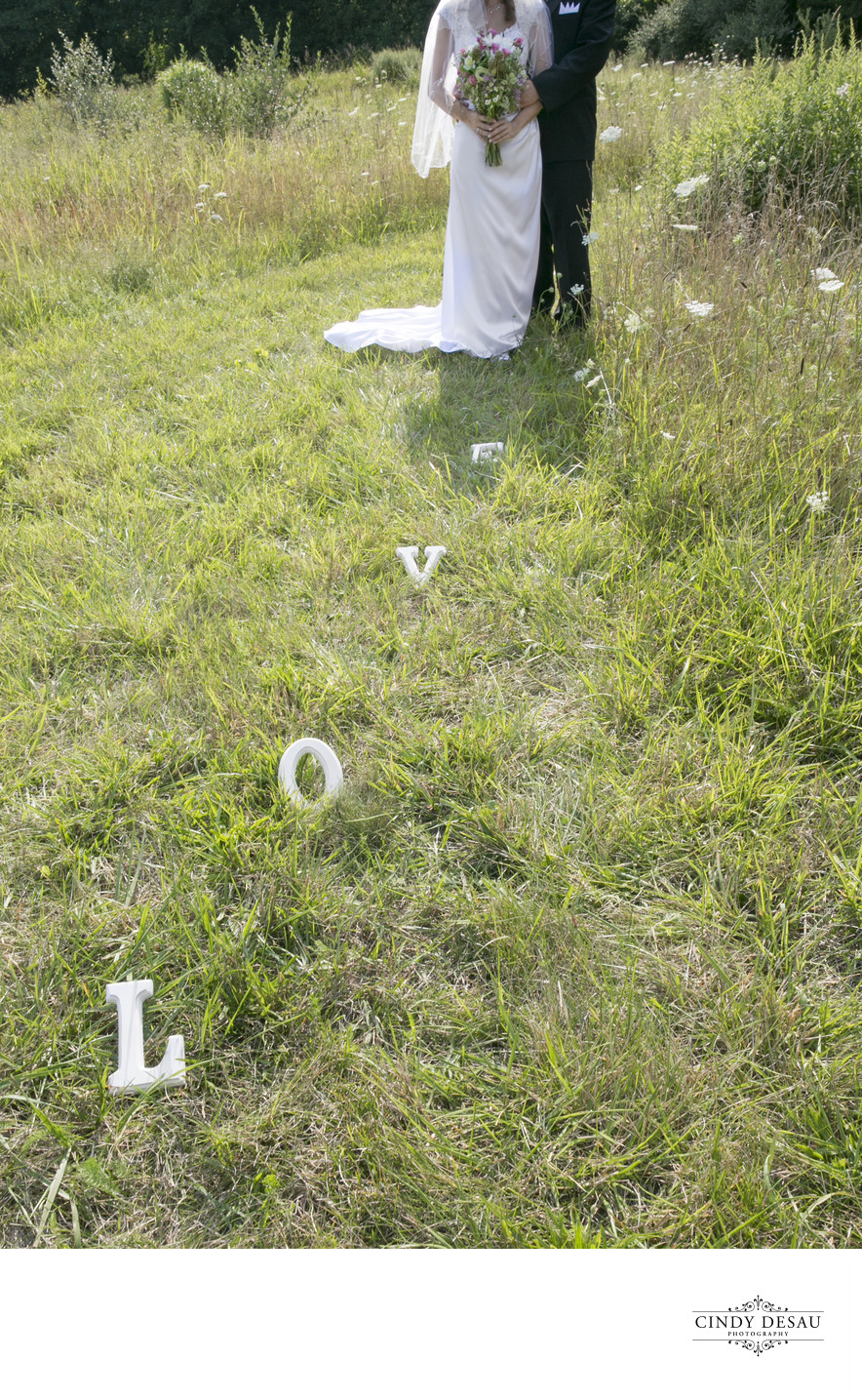 Whimsical Field of Love in New Hope Wedding Photographer