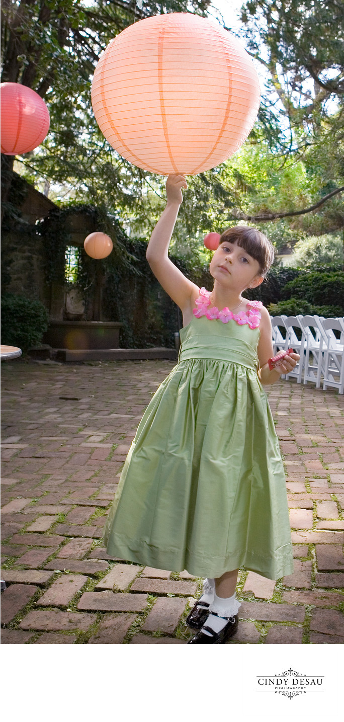 Flower Girl and Cool Wedding Decor in New Hope Photo