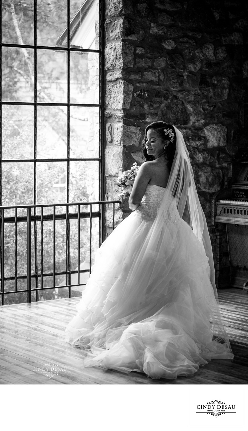 Bridal Portrait in Classic Black and White