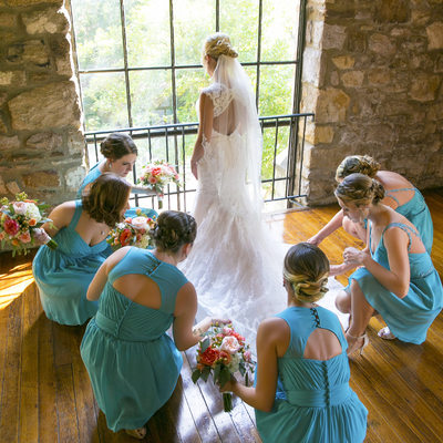 Painterly Portrait of Bride and Her Bridesmaids