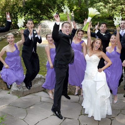 Bridal Party Energetic Jump Photo in New Hope