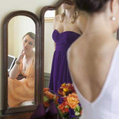 Candid Moment in the Bridal Suite Photo