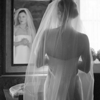 Ethereal Bridal Portrait in Black and White