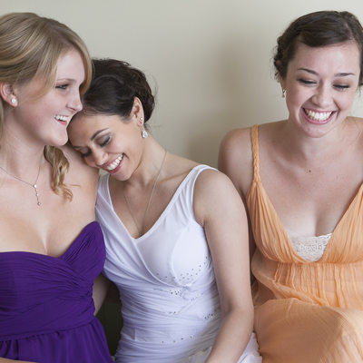 Sweet Moment of Bride with her Friends