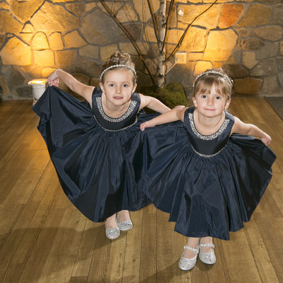 Cute Flower Girls at New Hope Reception Photographer