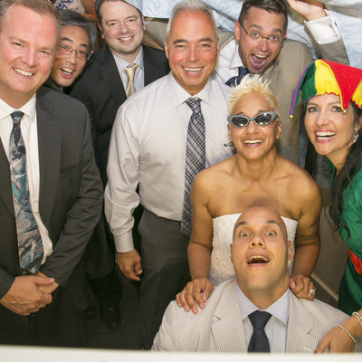Photo Booth Fun New Hope Reception Photograph