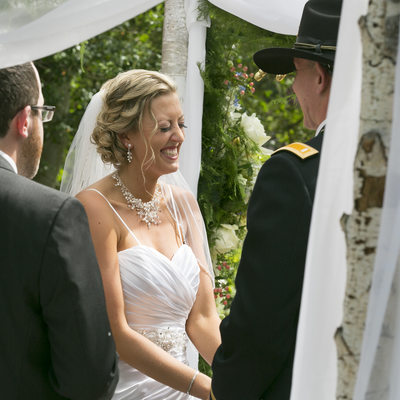 Laughing Bride Wedding Photo in New Hope
