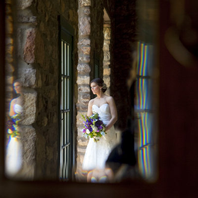 Portrait of Bride Reflected in Photograph