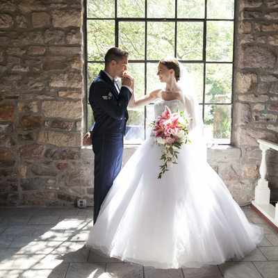 Military Wedding at Holly Hedge Estate