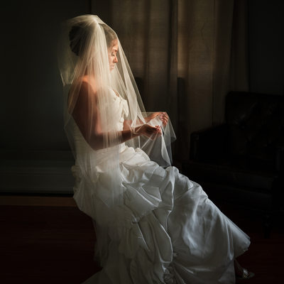 Gorgeously Stunning Bridal Portrait at Farmstead of Ringoes