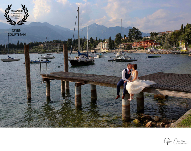 Wedding photos on Lake Garda