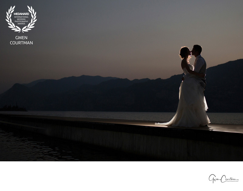 Romantic night photos on Lake Garda.