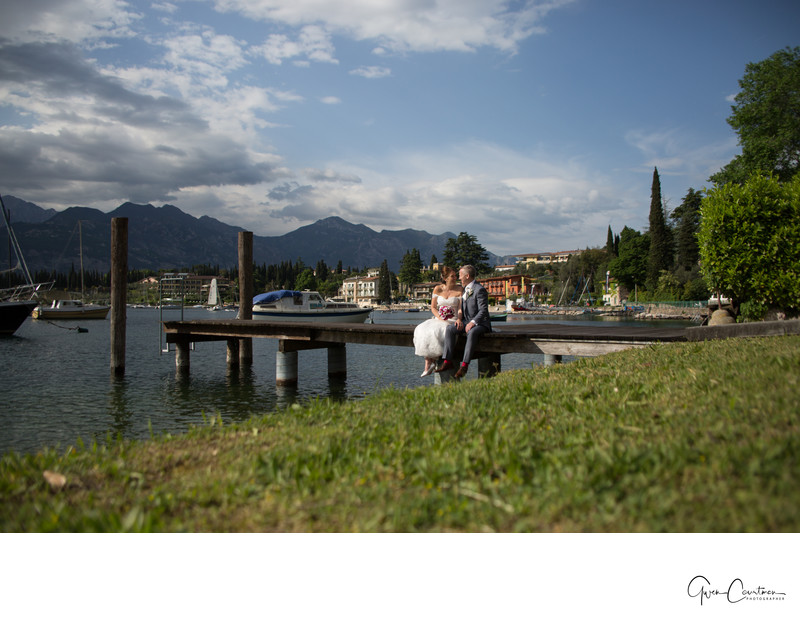 Amazing scenery for wedding photos. Malcesine, Italy.