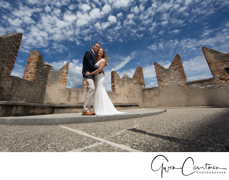 Bridal Couple, Malcesine Castle, Lake Garda, Italy
