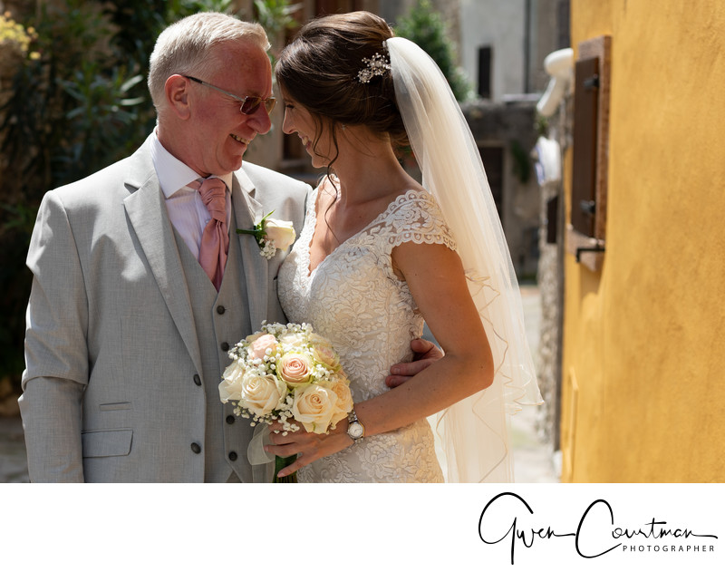 Father Daughter moments, Malcesine Castle Wedding.