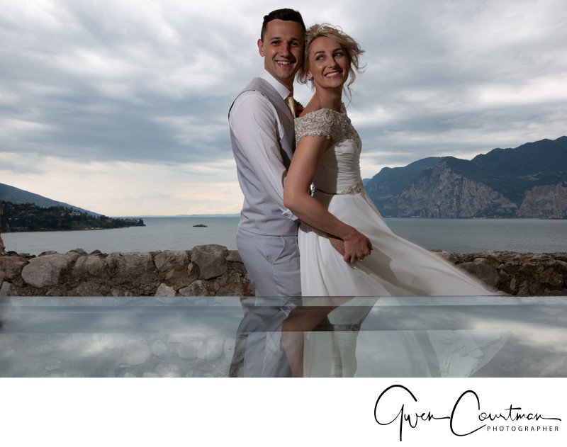 Emma and Darren, Malcesine Castle Wedding, Lake Garda.