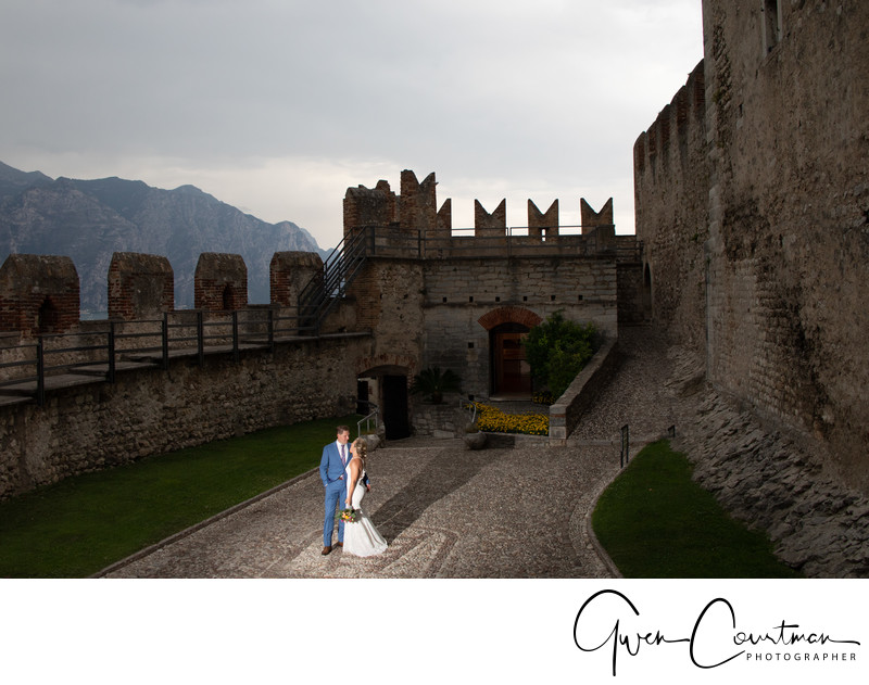 Bright Light Malcesine Castle Wedding Photography.